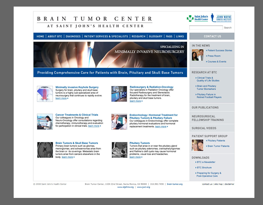 brain tumor center feature image